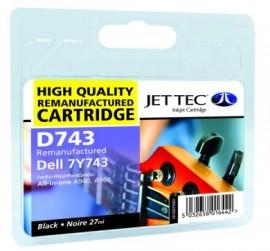 Remanufactured Black Ink Cartridge Dell  7Y743 (D743)
